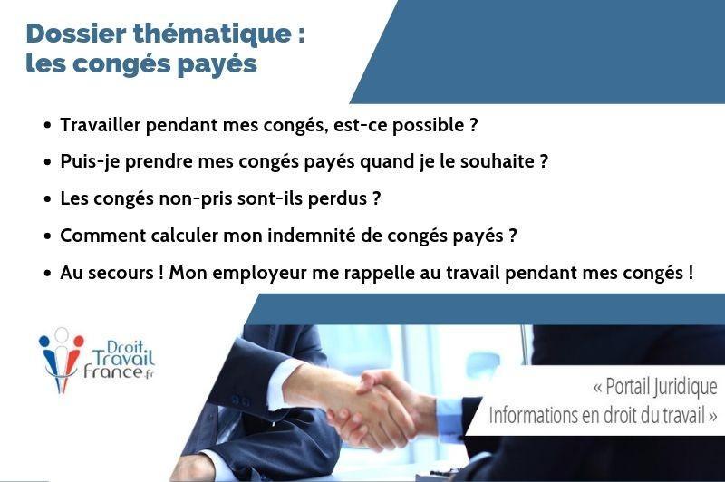 Conges Payes 2019 Dossier Thematique Consacre Aux Conges Payes